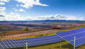 solar panel at mine