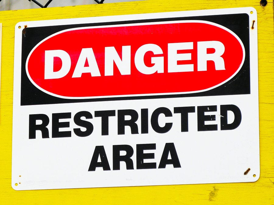 restricted access area